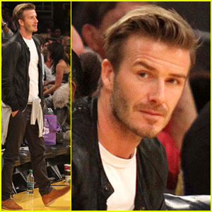 David Beckham: Courtside Lakers Night!