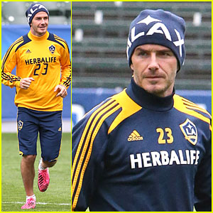 David Beckham: Final Galaxy Game Practice!