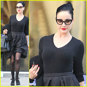 Dita Von Teese is Fascinated by Vintage Lingerie!