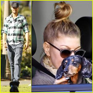 Fergie & Josh Duhamel: Santa Monica Drop Off!