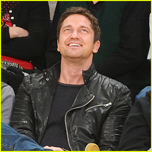 Gerard Butler: Lakers Game Spectator!