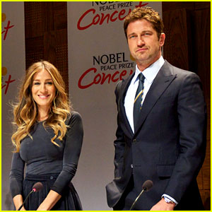 Gerard Butler &#038; Sarah Jessica Parker: Nobel Peace Prize Concert Press Conference!