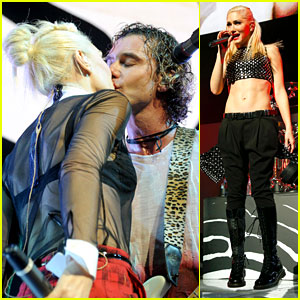Gwen Stefani & Gavin Rossdale Kiss at Christmas Concert!