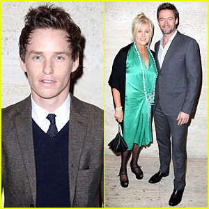Hugh Jackman & Eddie Redmayne: 'Les Miserables' Luncheon!