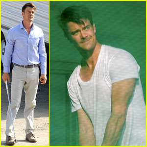 Josh Duhamel Practices Golf Swing for 'You're Not You'!