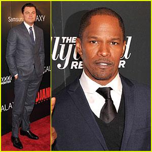 Leonardo DiCaprio & Jamie Foxx: 'Django Unchained' Screening!