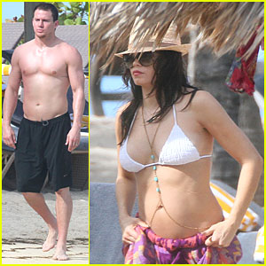 Shirtless Channing Tatum: Kayaking with Pregnant Jenna Dewan!