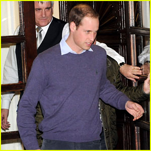 Prince William Visits Pregnant Kate Middleton in Hospital