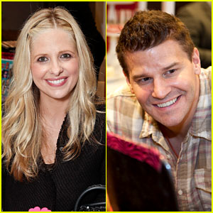 Sarah Michelle Gellar & David Boreanaz: 'Buffy' Reunion at Santa's Workshop Event!