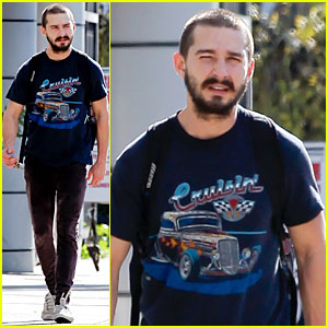 Shia LaBeouf: Cruisin' to the Gym!