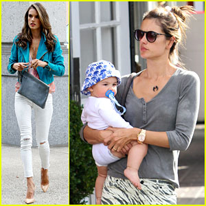 Alessandra Ambrosio: Brentwood Country Mart with Noah!