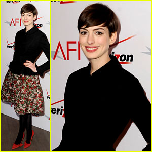 Anne Hathaway - AFI Awards 2013 Red Carpet