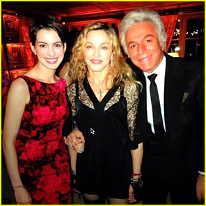 Anne Hathaway & Madonna: Valentino's New Year's Eve Party!