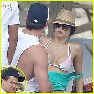 Channing Tatum &#038; Pregnant Jenna Dewan: Bikini Lounging in Cabo!