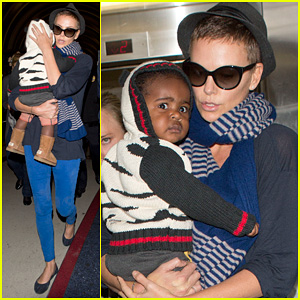Charlize Theron: LAX Arrival with Jackson!
