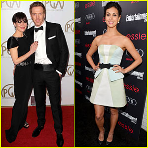 Damian Lewis & Morena Baccarin: Pre-SAG Events!