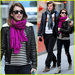 Emma Roberts & Evan Peters: Museum of Modern Art Visit!