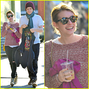 Emma Roberts & Evan Peters: Peels Restaurant Pair!