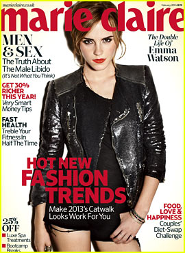Emma Watson Covers 'Marie Claire UK' February 2013