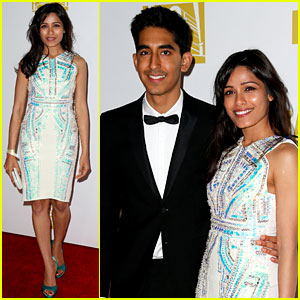 Freida Pinto & Dev Patel - Golden Globes Parties 2013