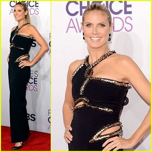Heidi Klum - People's Choice Awards 2013 Red Carpet