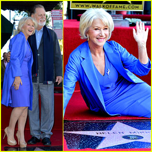 Helen Mirren Receives Star on Hollywood Walk of Fame