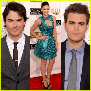 Ian Somerhalder & Nina Dobrev - Critics' Choice Awards 2013