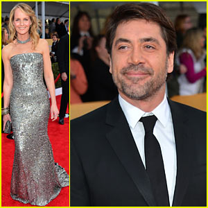 Javier Bardem & Helen Hunt - SAG Awards 2013 Red Carpet