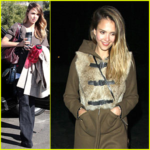 Jessica Alba Wraps Up Work Week with Drinks!