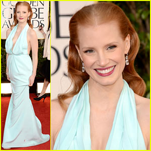 Jessica Chastain - Golden Globes 2013 Red Carp