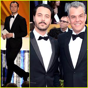 Jude Law: SAG Awards 2013 with Jack Huston