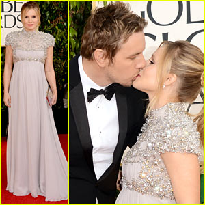 Kristen Bell: Golden Globes 2013 Red Carpet with Dax Shepard