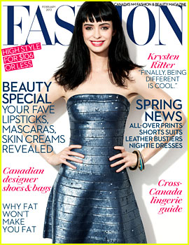 Krysten Ritter Covers 'Fashion' Magazine February 2013