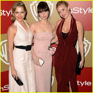Teresa Palmer & Felicity Jones - Golden Globes Party 2013