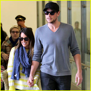 Lea Michele & Cory Monteith: Holding Hands at LAX!