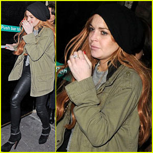 Lindsay Lohan: Rose Club Quick Departure