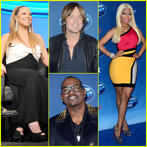 Mariah Carey & Nicki Minaj: 'American Idol' Premiere Screening!