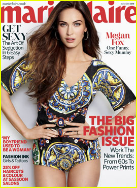 Megan Fox Covers 'Marie Claire UK' March 2013