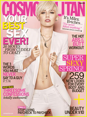 Miley Cyrus Suits 'Cosmopolitan' Magazine March 2013