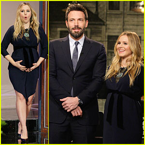 Pregnant Kristen Bell: 'The Tonight Show with Jay Leno' with Ben Affleck!