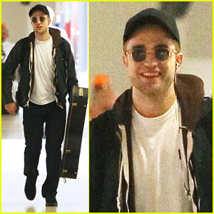 Robert Pattinson Brings His Guitar t