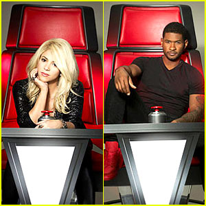 Shakira & Usher: 'The Voice' Promo Portraits!