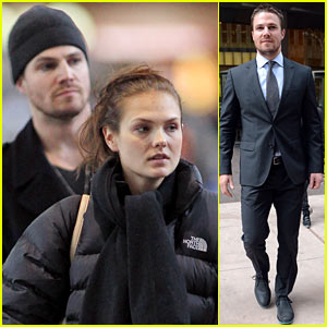Stephen Amell: Big Apple Promo Trip with Wife Cassandra Jean!