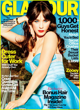 Zooey Deschanel Covers 'Glamour' February 2013