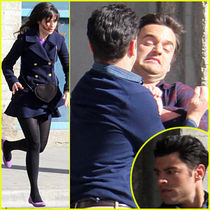 Zooey Deschanel: 'New Girl' Fight Scene with the Boys!