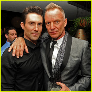 Adam Levine & Sting: Maroon 5 Grammys After Party 2013!