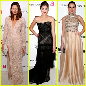 Analeigh Tipton & Willa Holland - Elton John Oscars Party 2013