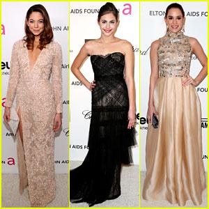 Analeigh Tipton & Willa Holland - Elton John Oscars Party 2013