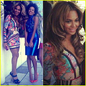 Beyonce: Roc Nation Pre-Grammy Party with Solange Knowles!