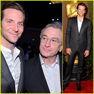 Bradley Cooper & Robert De Niro - Oscar Noms Luncheon 2013